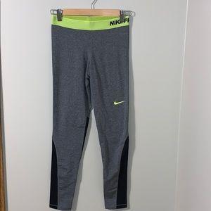 {Nike} gray workout leggings